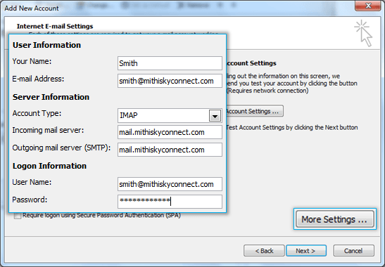 Outlook 2010 on desktop | HELP CENTER