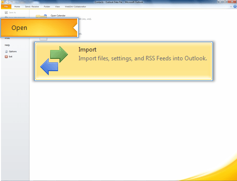 Import a contacts list to Outlook - SkyConnect