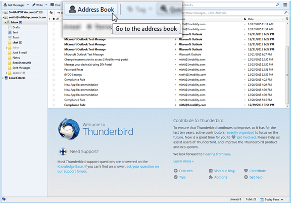 Thunderbird on desktop | HELP CENTER