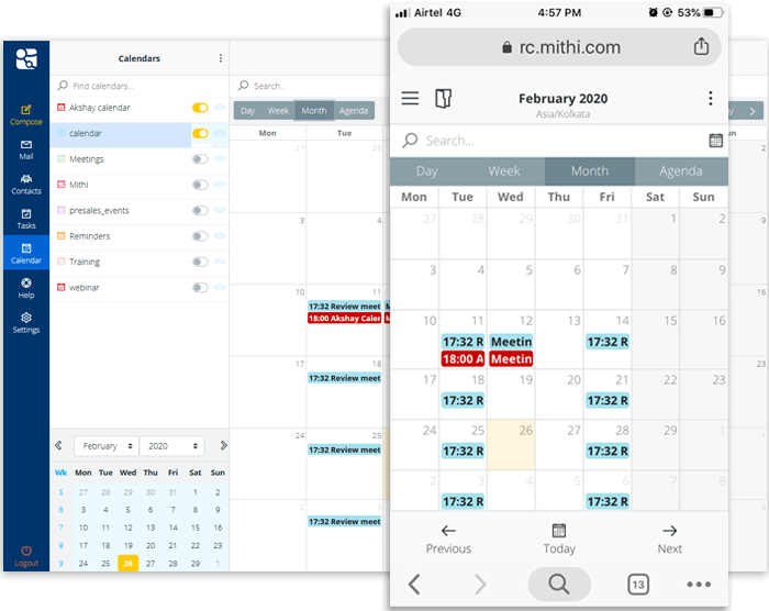 Collaborate Better with Private & Public Calendars